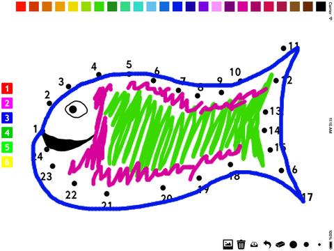 活动!图画书 和连接点: 用数字漆 儿童