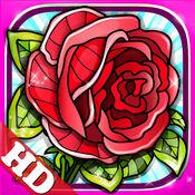 花 的涂色书 數字油畫 藝術畫 HD 7.8