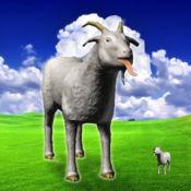 山羊疯狂的3D模...