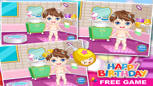 Baby Birthday : Bath, Spa, Makeover  Dressup Salon