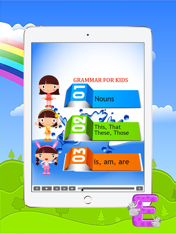 Basic english study grammar for kids