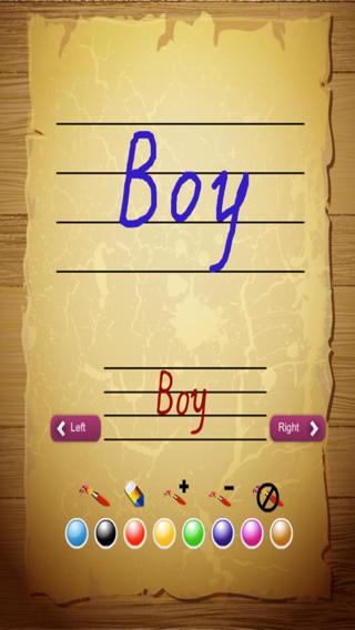 宝宝写单词