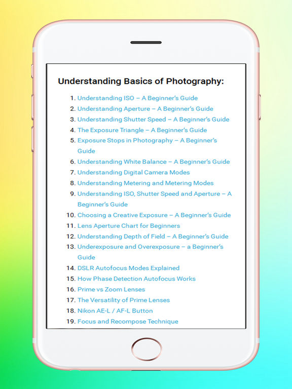 Basic Photography Learning