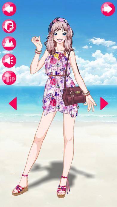 Beach Girl Free Make Up  Dress Up