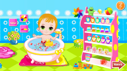 Baby bathing game | baby shower game HD