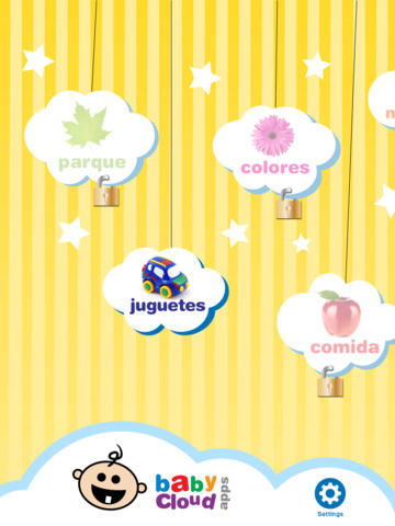 Baby Cloud Apps First Words Spanish