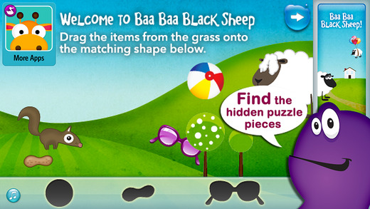 Baa Baa Black Sheep - by Duck Duck Moose