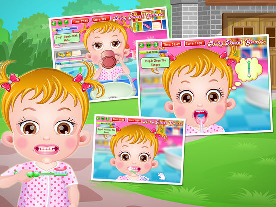 Baby Hazel Brush Time