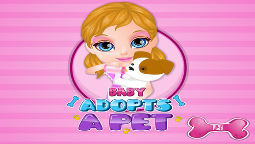Baby Adopts a Pet