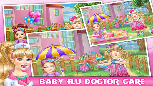Baby Flu Doctor Care - Kids  Baby Game