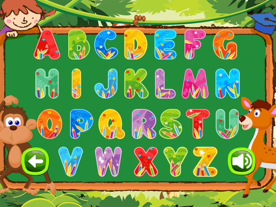 Animals Vocab Alphabet Flashcards for Preschool