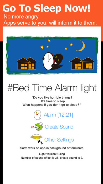 Bed Time Alarm Light