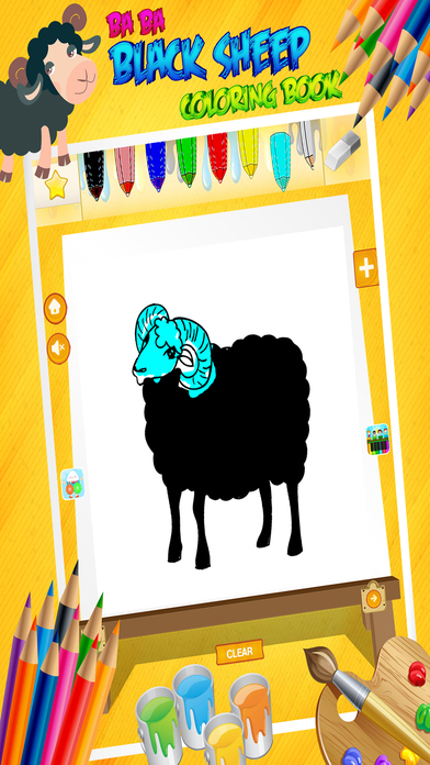 Baa Baa Black Sheep - Poem Coloring Book for Kids