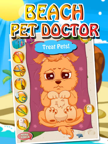 Beach Pet Doctor - kids games