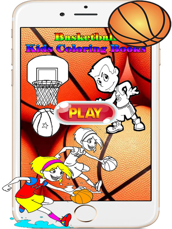 Basketball Kids Coloring Books Games for Toddlers