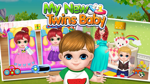 Baby Twins Play House  Free Kids Games!