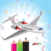 Airplane Coloring Book 1