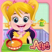 Baby Arya in the Kitchen