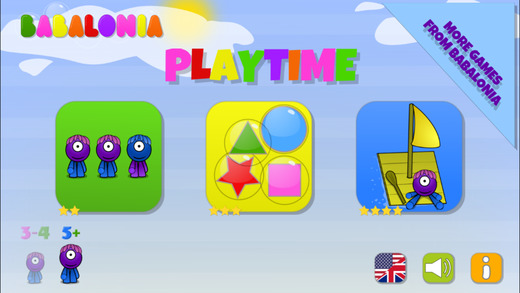 Babalonia Playtime - 3 educational games for kids