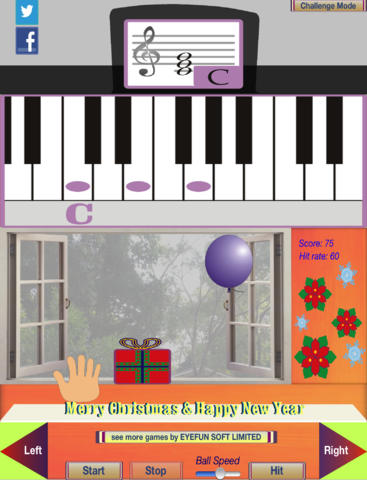 Balloon piano for kids