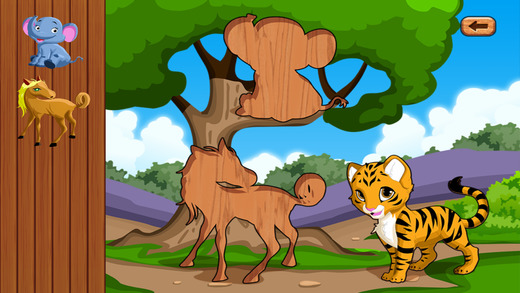 Baby Games & Animal jigsaw cat puzzles for toddler