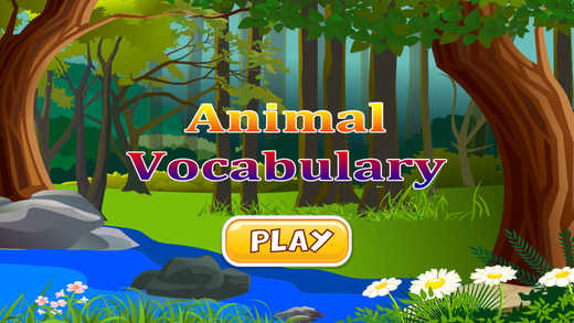 Animals Vocabulary puzzles learning game for kids