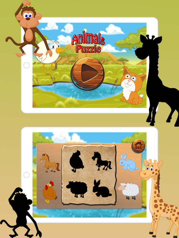 Animals Puzzle for Kindergarten kids