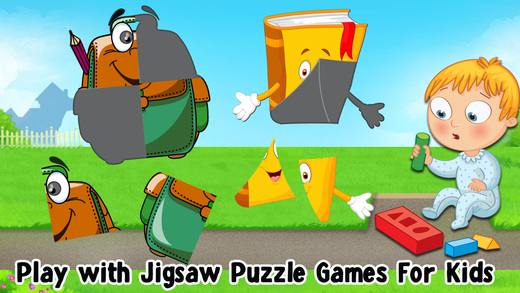 Back To School Puzzles Games For Toddlers  Kids