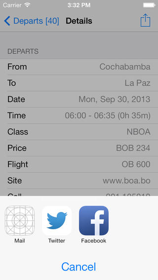 Bolivia Flight