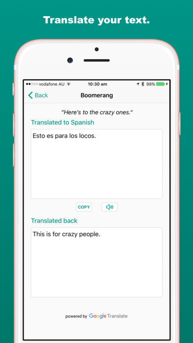 Boomerang: Double-check Translations