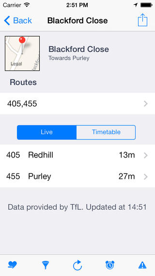 BusMate London - LIVE bus times and reminders