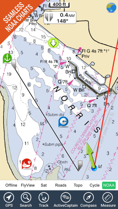 Boating Florida GPS nautical  fishing charts