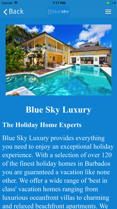 Blue Sky Luxury