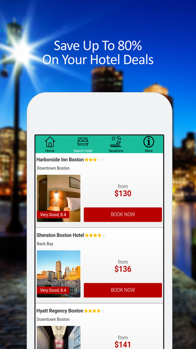 Boston Hotel Booking 80% Deals