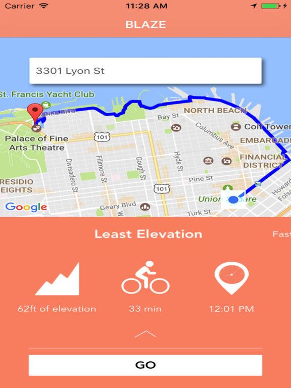 Blaze - map app for bikers