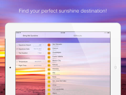 Bring Me Sunshine - Vacation Ideas