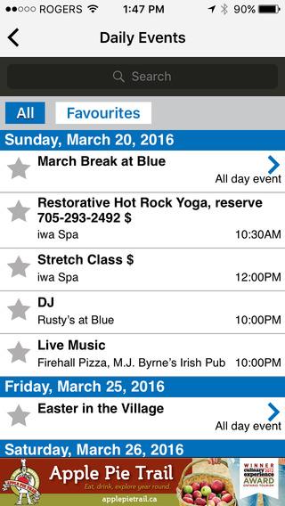 Blue Mountain Village Events
