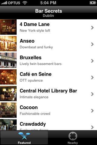 DRINK. Dublin - Dublin bar & pub guide