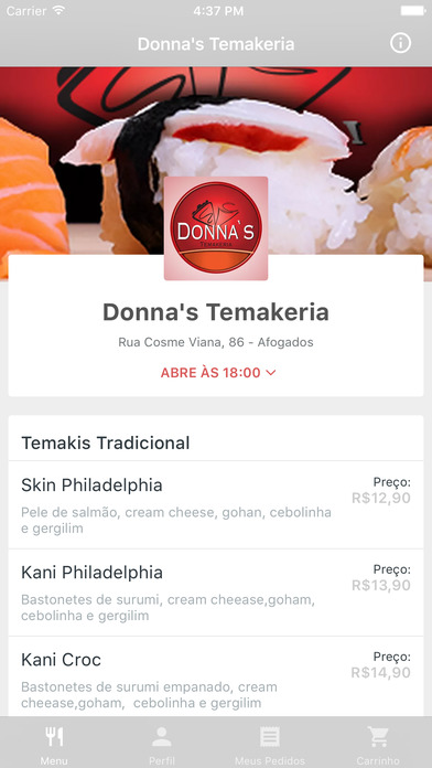 Donna's Temakeria Delivery