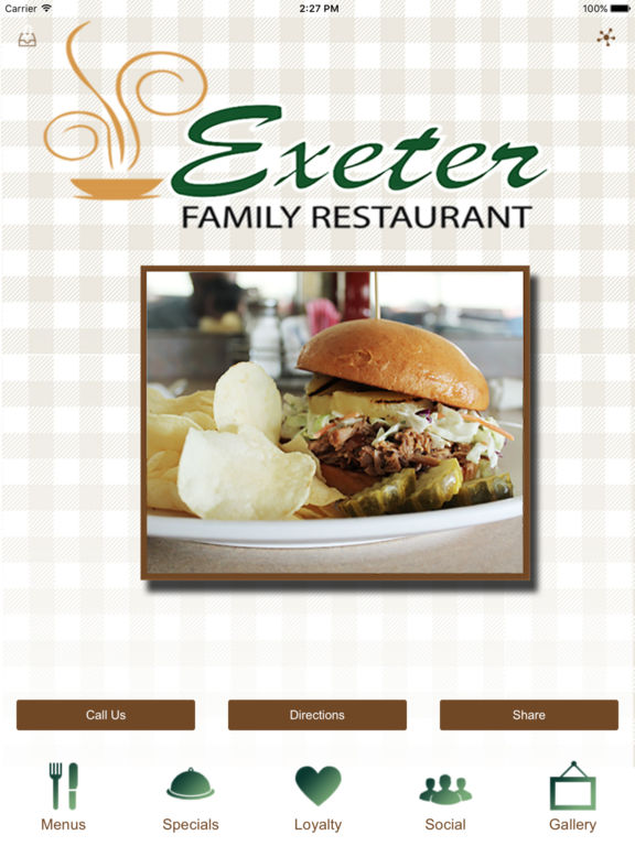 Exeter Family Restaurant.