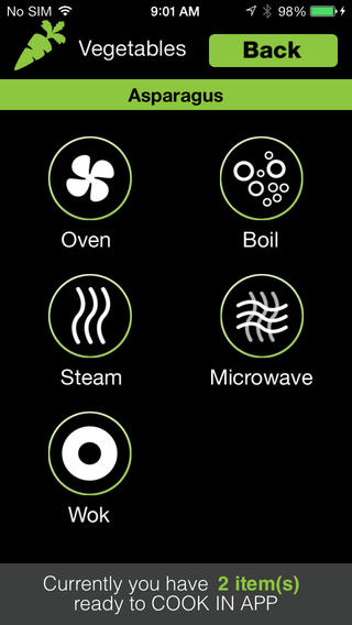 Cook in App