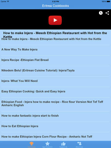 Eritrea Cookbooks - Video Recipes