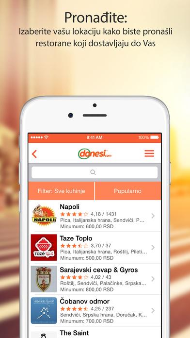 Donesi - Dostava hrane, najbolji restorani u gradu