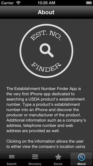 Est. No. Finder