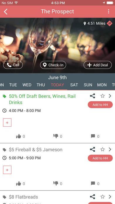 DrinkMate - Find Happy Hour Deals + Breathalyzer