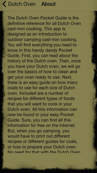 Dutch Oven Pocket Guide