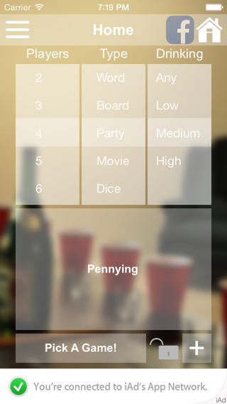 Drinking Game Picker