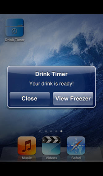 Drink in the Freezer Timer