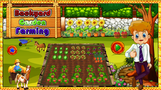 后院花园耕作 - 农场改造游戏