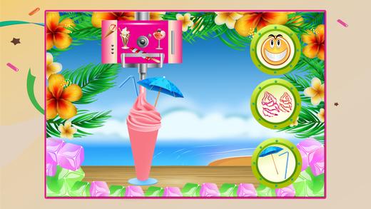冰淇淋奶昔制造商 - 使冷冻和泥泞的甜品在这个厨师狂热游戏的孩子